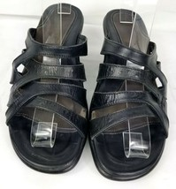 Dansko strappy black leather heeled sandals size 38 US 7.5 EUC casual work - $27.77