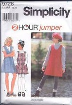 Simplicity 9728 Girls' Jumper - $2.00