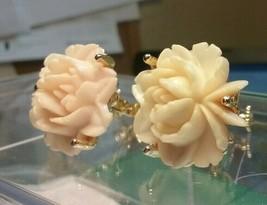 "Vintage Jewelry: 3/4"" Golditte Screwback ClipOn Rose Earrings 04-01-2019 - $10.99"