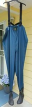 Orvis XL Chest Waders with Size 10 Felt Bottom Boots Blue Polyester RN3876 - $35.28