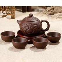 Ceramic Purple Clay Tea Set Kung Fu Pot Infuser Xishi Gaiwan Teapot Serv... - $22.76+