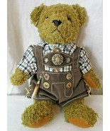"Gummibar toys  Munchen German Brown Teddy Bear Rare 11"" - $98.99"