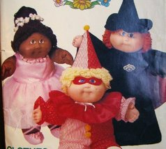 Cabbage Patch Kids Costumes, Butterick 6935 Vintage 1984, Clown, Witch, Princess - $14.84