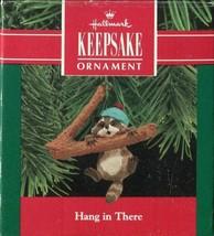 1990 Hallmark Keepsake Ornament - Hang In There - Raccoon On Branch - $4.45