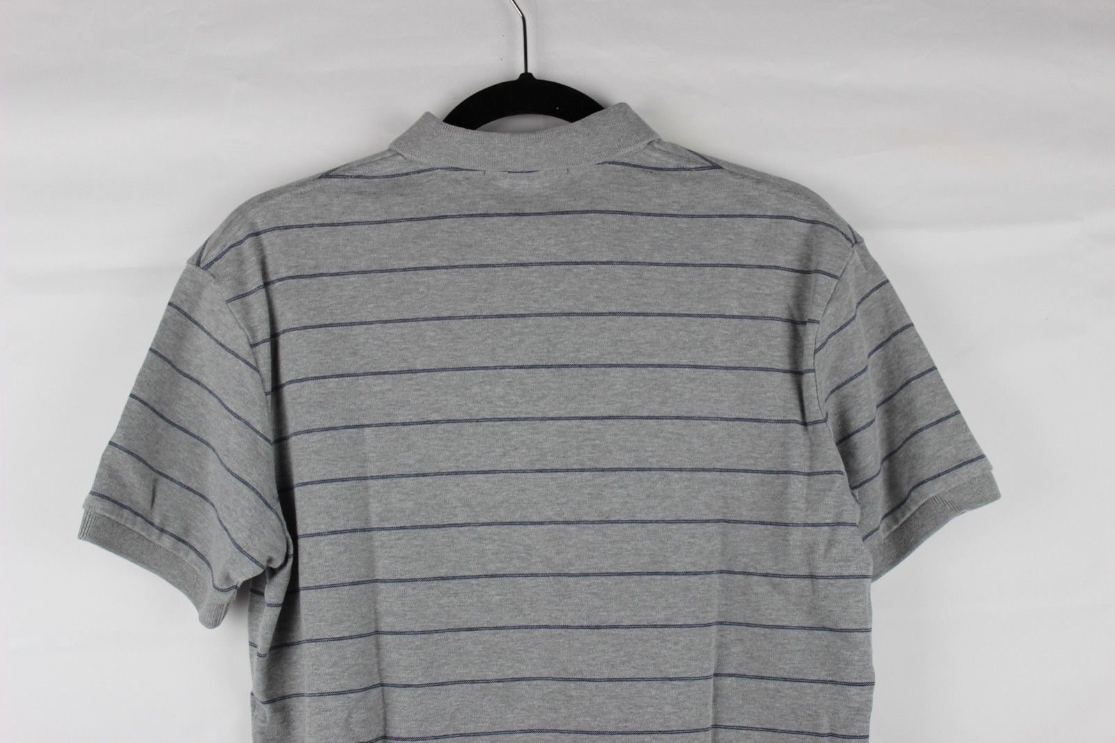 POLO by Ralph Lauren men's sport polo shirt cotton gray striped classic size S