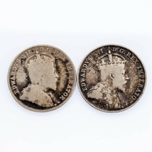Lot of Two Canada 10 Cent 1903-H and 1907 in Fine Condition KM #10 - $29.69