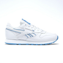 Reebok Women's White Blue Leather Classic Sneakers Size 8 1/2 - $49.49