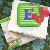 Sesame Street Twin Sheet Set Flat Fitted Bedding Material Franco Manufacturing - $34.99
