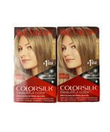 2 - Revlon Colorsilk Beautiful Color Hair Dye (60) Dark Ash Blonde Ammon... - $14.80