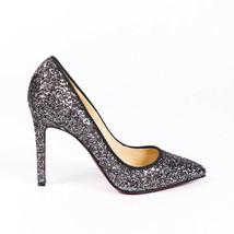 Christian Louboutin Pigalle Follies Glitter Pumps SZ 37.5 - $605.00