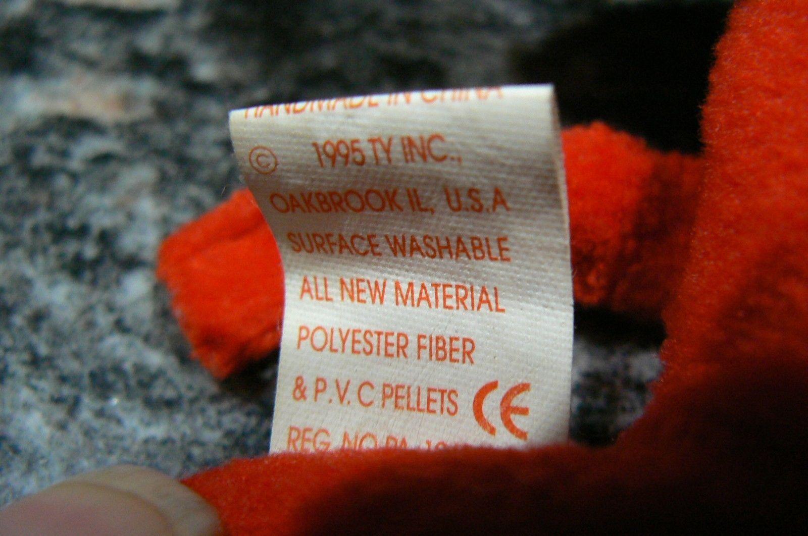 "Vintage Ty Beanie Babies Snort "" The Bull "" Hang Tag/Tush Tag 1995 PVC Pellets image 11"