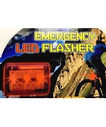 LED Emergency Flasher Light Square Red Clip Battery Tag not Pulled New - $7.99