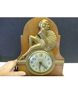 Vintage Art Deco Sessions Marilyn Monroe Sexy Lady Shelf Mantle Clock RARE - $197.99