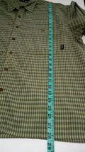 Patagonia Men's Green L short-sleeve button-down plaid Breast Pocket shirt image 5