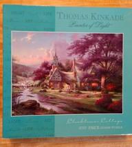 Puzzle Vintage Thomas Kinkade Clocktower Cottage 1000 Piece Puzzle - $22.99