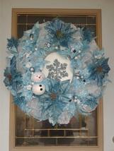 winter wreaths,xmas wreath,winter snowflake wreaths,poinsettias wreaths,... - $85.00