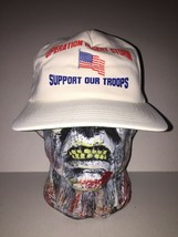 Operation Desert Storm Support Troops Snapback Mesh Hat Ball Cap Vintage 1990s - $29.69