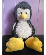 Ganz Cuddle-Doos Penguin Long Leg Plush Stuffed Animal Grey Off White Sh... - $15.72