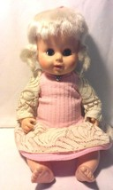 "Vintage 1960's 13"" HORSMAN Hard Plastic Baby Doll Sleep Eyes Drinks & Wets - $14.50"