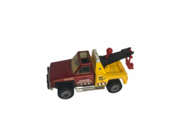 Vtg 1983 Vintage Yellow Red Tonka Rovin Wrecker Metal Plastic Tow Truck Toy  - $24.75