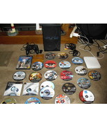 Sony Playstation 2 Console PS2 Console  w/ 20 disks,  games,demos etc. - $168.29