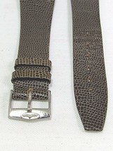 VINTAGE GENUINE LEATHER WATCH BAND TAPERED 20MM  - $19.20