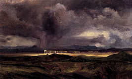 The Storm by Arnold Blockin, 8x10 Canvas Print, tornado, thunderstorms, ... - $15.99