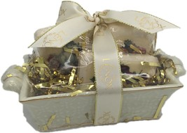 LENOX Fine Porcelain 24k Gold Crossings Basket with Christmas Soaps - $14.99