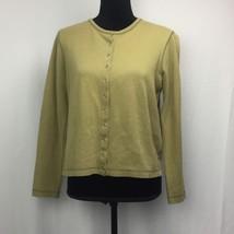 Lauren Ralph Lauren Women's Cardigan Sweater Button Down Olive Green Size Medium - $14.94