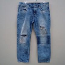 H&M Boyfriend Low Waist Ankle Women's Jeans in Destructed Style Size 30  - $29.99
