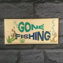 Gone Fishing Signs, Grandads Fish Bait Shed Fathers Day Gift Workshop Gi... - $11.20