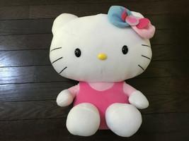 """Sanrio 2013 Soft Stuffed Hello Kitty Plush/Toy White/Pink 13"""" - $17.99"""