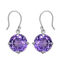 10MM Round Purple Amethyst 925 Sterling Silver Dainty Dangle Mother Gift... - $12.06