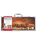 Budweiser Grilling Grill Tool Set Collectible Clydesdale Suitcase BBQ Sa... - $25.64