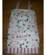 Sumersault Infant Baby Diaper Stacker Bubble Fun Pink Circles Dots Strip... - $18.00