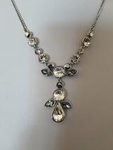 Givenchy Silver Tone Multi Color Crystal Y Necklace $78 NWT - $30.69