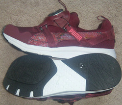 New Womens Puma Disc Chrome Textile Running Shoes Size 8 Maroon/White MSRP $100 - $32.42