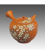 Tokoname kyusu teapot -SHUNEN -Hexagonal SAKURA 280cc -ceramic fine mesh... - $622.12