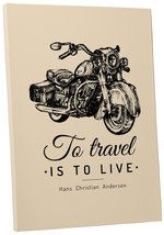 "Pingo World 0722QA7DSKG ""To Travel is To Live Motorcycle"" Gallery Wrapped Canvas - $43.51"