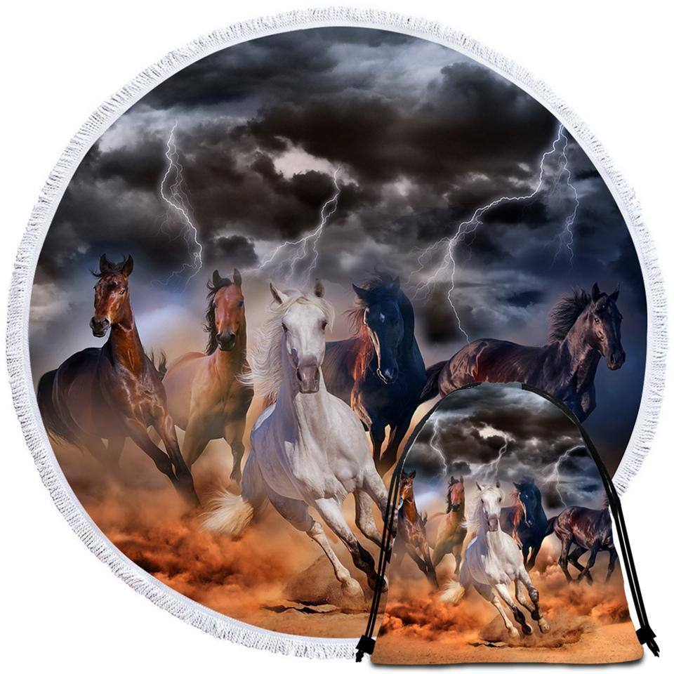 Primary image for Storm Horses Beach Towel