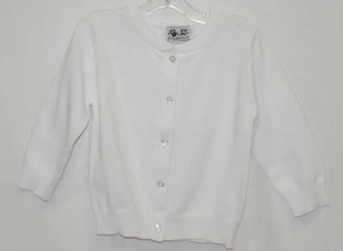 Finger Prints New York Classic White Cardigan Button Up 18 Months