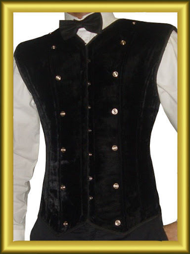 Primary image for New Fashion Full vest Men corset  Steel Boned High Durable Black Velvet corset