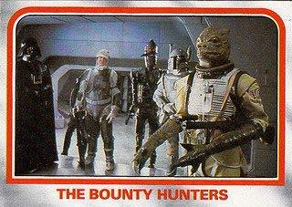 1980 Topps Star Wars Empire Strikes Back Red Cards THE BOUNTY HUNTERS #74