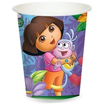 Amscan Quirky Dora's Flower Adventure Party Paper Cups (8 Piece), Multi - $9.79