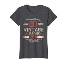 Uncle Shirts -   Vintage Legends Born In JUNE 1998 Aged 20 Years Old Being Wowen image 1