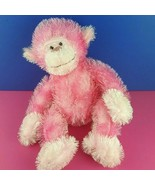 Russ Berrie Trembles Pink Plush Monkey Fuzzy Shaking Sounds Stuffed Toy ... - $20.78