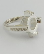 Authentic Kameleon Crystal Four Post Ring 925 Silver, KR-33 Kr033, Size ... - $39.51