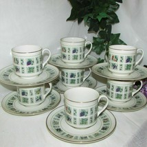 Royal Doulton Tapestry Cup & Saucer Lot Of 7 TC1024 English China Teacup Fruit - $89.99