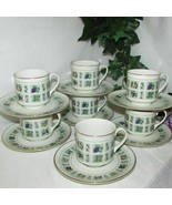 ROYAL DOULTON TAPESTRY CUP & SAUCER LOT OF 7 TC1024 ENGLISH CHINA TEACUP... - $89.99