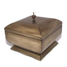 Bombay Dark Walnut wood JEWELRY BOX Travel CASE / STORAGE / ORGANIZER new - $59.39